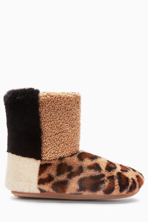 Next Faux Fur Patch Boots