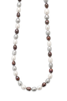 By Fairfax & Roberts Real Baroque Pearl Long Necklace - 217424