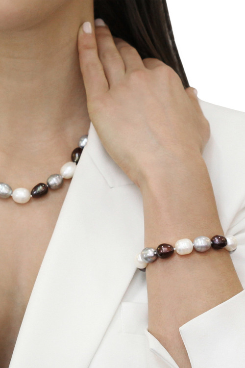 By Fairfax & Roberts Real Baroque Pearl Bracelet