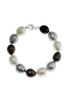 By Fairfax & Roberts Real Baroque Pearl Bracelet - 217436