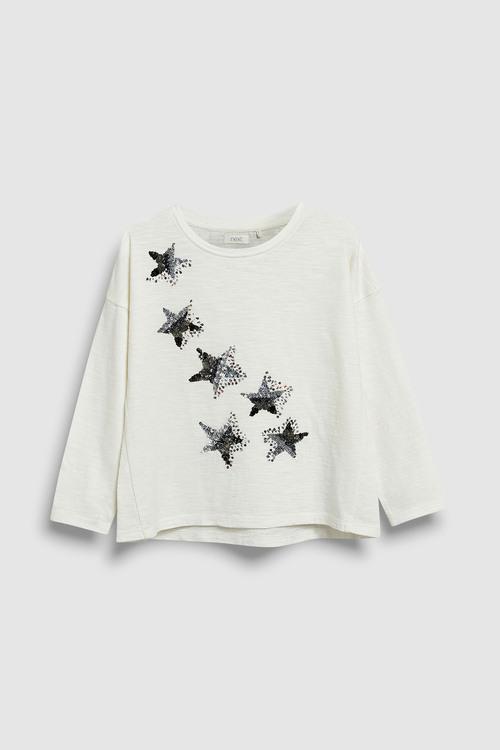 Next Sequin Star Long Sleeve T-Shirt (3-16yrs)