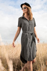 Capture Short Sleeve Shirt Dress