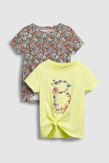 Next Floral T-Shirts Two Pack (3-16yrs)