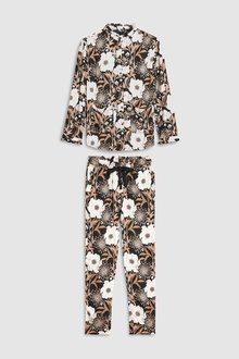 Next Floral Button Through Pyjamas