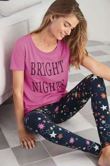 Next Slogan Star Legging Pyjamas