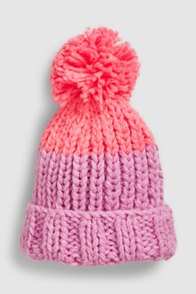 Next Hand Knitted Pom Beanie Hat (Older)
