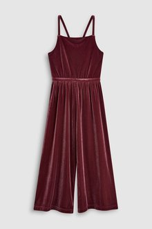 Next Velour Playsuit (3-16yrs)
