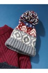 Next Pattern Bobble Beanie (Older)