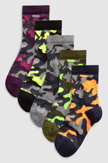 Next Camo Socks Five Pack (Older)