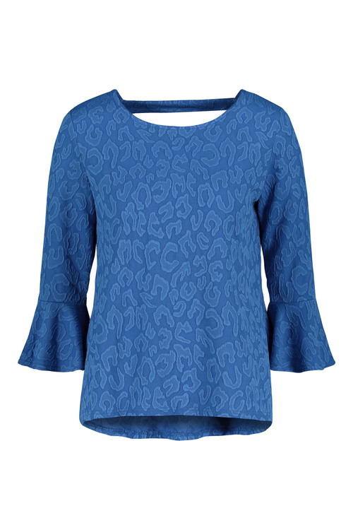 Next Jacquard Flute Sleeve Top
