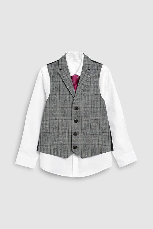 Next Check Waistcoat Set (12mths-16yrs)