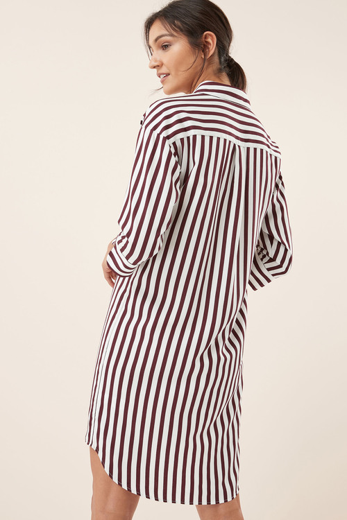Next Bold Stripe Shirt Dress -Tall