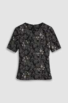 Next Floral Jacquard Top