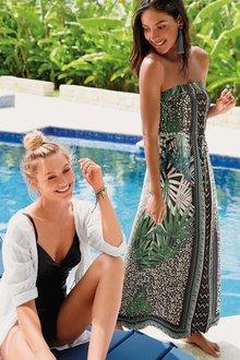 Next Palm Print Maxi Dress