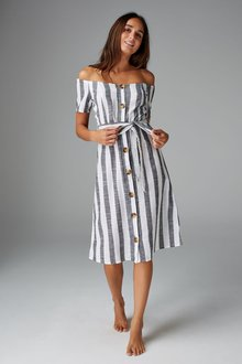 Next Stripe Bardot Dress