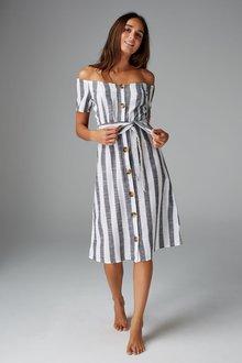 Next Stripe Bardot Dress