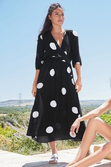 Next Big Spot Midi Dress