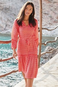 Next Ditsy Print Long Sleeve Dress - 217938
