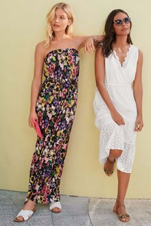Next Floral Print Jersey Maxi Dress -Petite