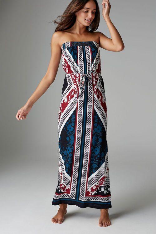 Next Geo Print Maxi Dress -Petite
