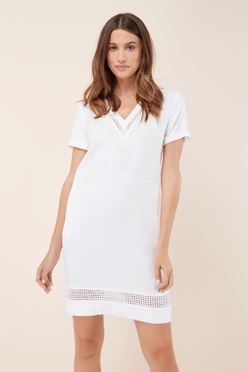 34331996764 Next Linen Blend T-Shirt Dress Online