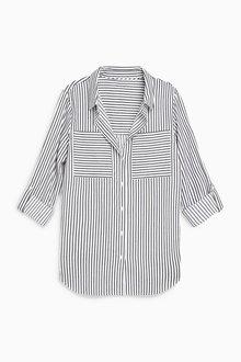 Next Stripe Textured Shirt -Petite