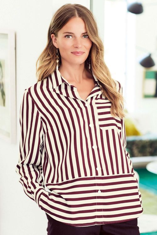 Next Bold Stripe Shirt - Petite