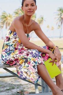 Next Floral Print Culotte Jumpsuit -Petite