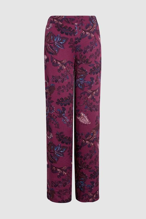 Next Print Wide Leg Trousers - Petite