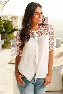 Urban Lace Detail Shirt - 218152