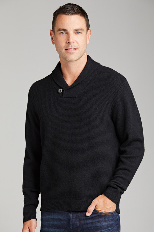 Lambswool Shawl Neck Sweater