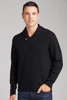 Lambswool Shawl Neck Sweater - 218184