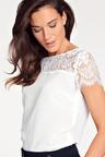 Heine Lace Detail Silk Blend Top
