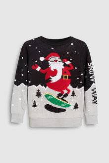 Next Christmas Santa Knit (3-16yrs)