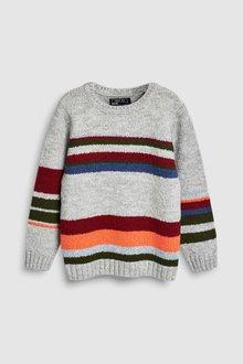 Next Stripe Knitted Crew (3-16yrs)