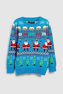 Next Christmas Pattern Jumper (3-16yrs)