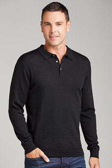Southcape Merino Long Sleeve Polo - 218202