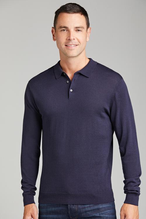 Southcape Merino Long Sleeve Polo