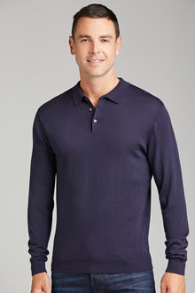 Southcape Merino Long Sleeve Polo
