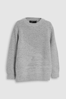 Next Textured Knit Crew Neck Sweater (3-16yrs)
