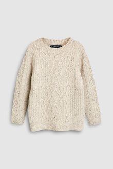 Next Cable Knit Crew Sweater (3-16yrs)