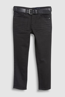 Next Five Pocket Belted Jeans (3-16yrs)