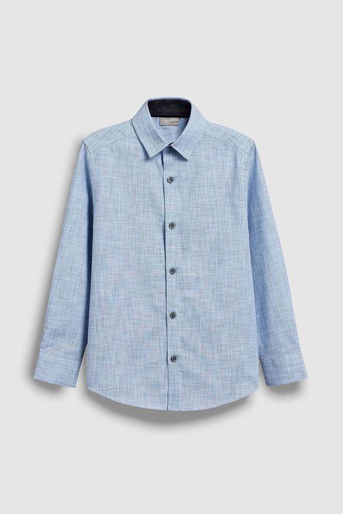 Next Long Sleeve Smart Textured Shirt (3-16yrs)
