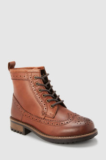 Next Leather Brogue Boots (Older)