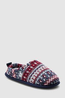 Next Pattern Knit Mule Slippers (Older)