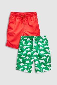 Next Dinosaur Print Swim Shorts Two Pack (3-16yrs)