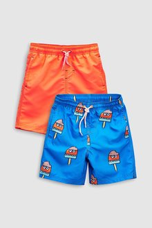 Next Ice Lolly Print Swim Shorts 2 Pack