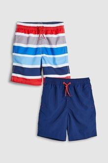 Next Stripe Swim Shorts Two Pack (3-16yrs)