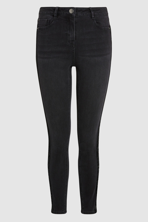 Next Velvet Side Tape Skinny Jeans