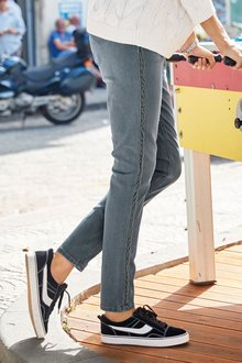 Next Velvet Side Tape Relaxed Skinny Jeans